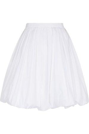 Alaïa Cotton-blend poplin miniskirt