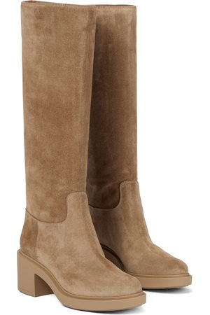 Gianvito Rossi Hynde suede knee-high boots
