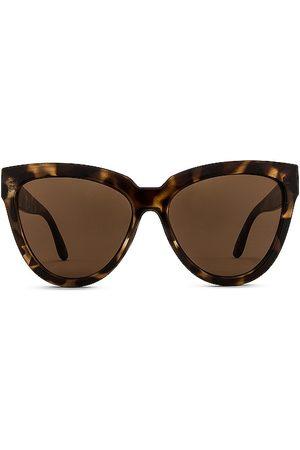 Le Specs Liar Liar Sunglasses in - Brown. Size all.