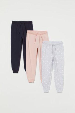 H&M Spodnie dresowe - Dżersejowe joggersy 3-pak