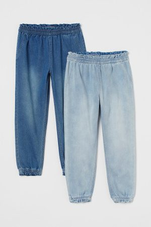 H&M Spodnie dresowe - Dżinsowe joggersy 2-pak