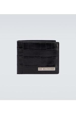 Balenciaga Portmonetki i Portfele - Plate square folded leather wallet