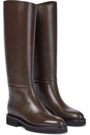 Khaite Derby leather riding boots