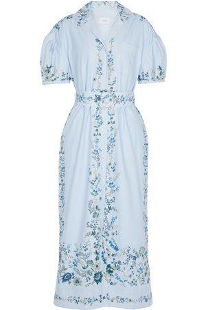 Erdem Floral cotton midi dress