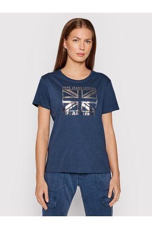 Pepe Jeans T-Shirt Zeldas PL505037 Granatowy Regular Fit