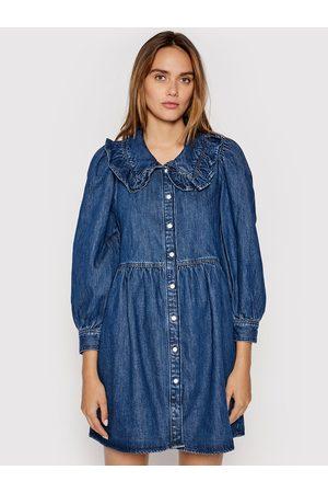 Levi's Sukienka jeansowa Mira A0802-0000 Granatowy Relaxed Fit