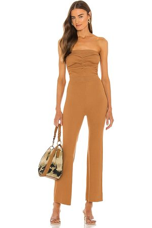 House of Harlow X Sofia Richie Efron Knit Jumpsuit in - Tan. Size L (also in S, XXS, XS, M, XL).