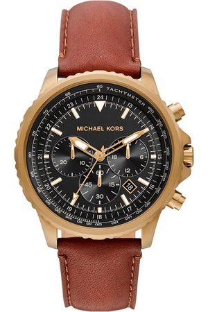 Michael Kors Mężczyzna Zegarki - Zegarek - Cortlandt Chronograph MK8906 Brown/Gold