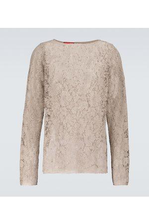 Gucci Long-sleeved lace shirt