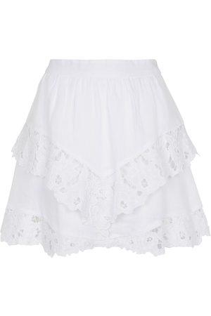 Isabel Marant Enali embroidered linen miniskirt