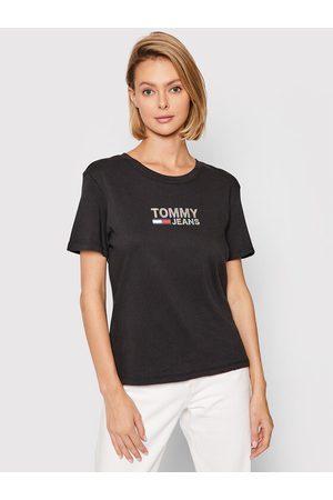 Tommy Hilfiger Kobieta Z krótkim rękawem - T-Shirt Tjw Metallic Corp Logo DW0DW09326 Regular Fit