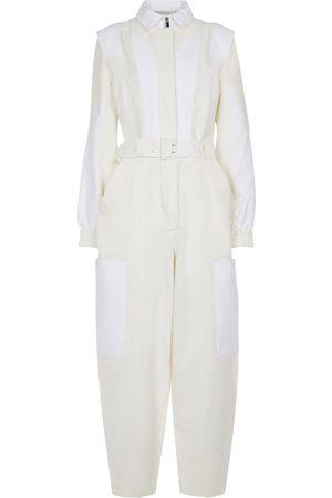 Stella McCartney Kobieta Kombinezony - Belted cotton-blend jumpsuit