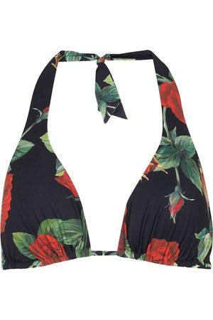 Dolce & Gabbana Floral halterneck bikini top