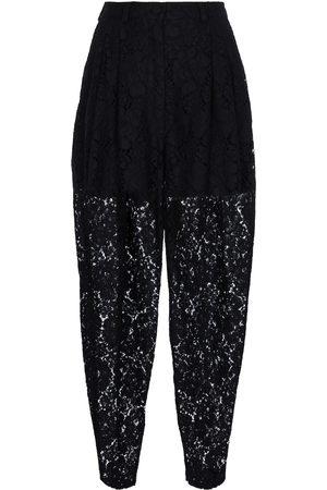 Dolce & Gabbana Cotton-blend lace sweatpants