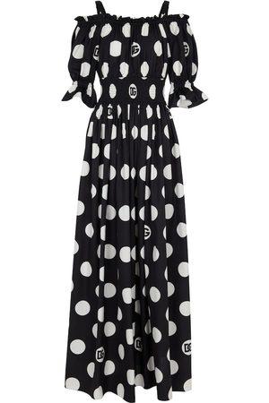 Dolce & Gabbana Kobieta Sukienki maxi - Exclusive to Mytheresa – Polka-dot cotton maxi dress