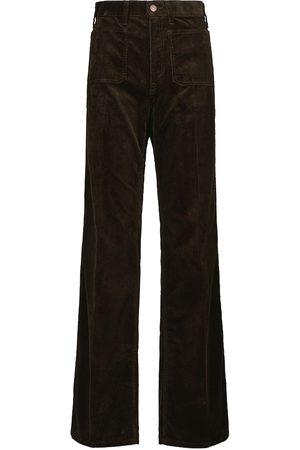 Polo Ralph Lauren Kobieta Z wysokim stanem - High-rise corduroy flared pants