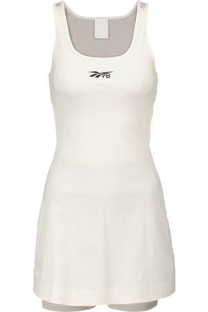 Reebok Cutout stretch-jersey minidress