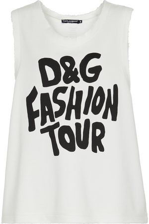 Dolce & Gabbana Logo-printed cotton top