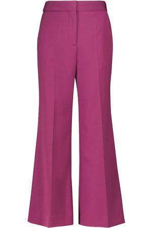 Victoria Victoria Beckham Kobieta Spodnie z szeroką nogawką - High-rise wide pants