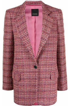Pinko Bouclé single-breasted blazer