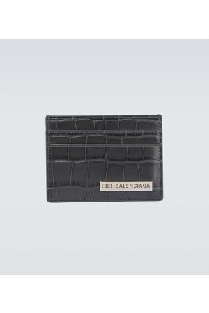 Balenciaga Portmonetki i Portfele - Plate leather cardholder