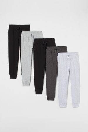 H&M Spodnie dresowe - Dżersejowe joggersy 5-pak