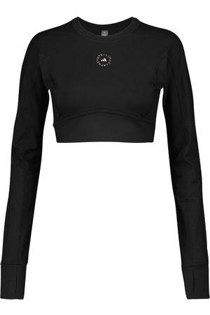 adidas Kobieta Sportowe Topy i T-shirty - Logo performance crop top