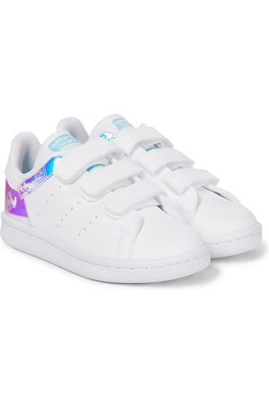 adidas Stan Smith paneled leather sneakers