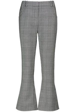 Balmain Kobieta Spodnie - Mid-rise checked pants