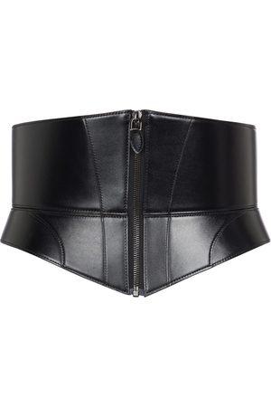 Alaïa The Zip Large leather corset belt