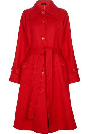Dolce & Gabbana Single-breasted wool crêpe coat