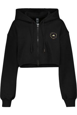 adidas Kobieta Bluzy sportowe - Cotton-blend cropped hoodie