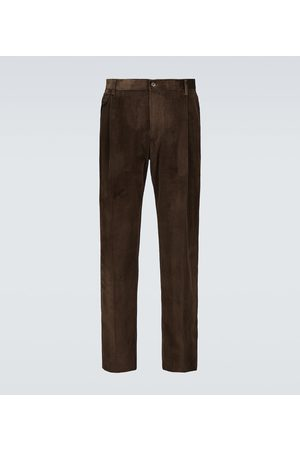 Dolce & Gabbana Pleated slim-fit corduroy pants