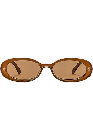 Le Specs Outta Love Sunglasses in - Cognac. Size all.