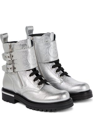 Balmain Leather combat boots