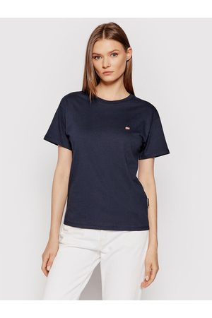 Napapijri T-Shirt Salis Ss W 2 NP0A4FSL Granatowy Regular Fit