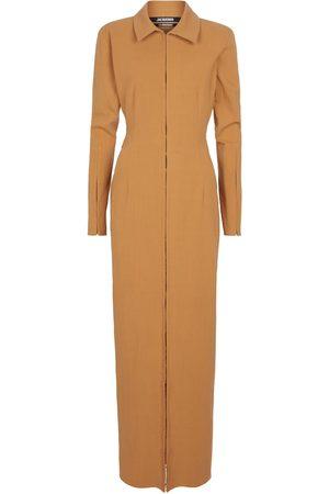 Jacquemus La Robe Obiou linen-blend maxi dress