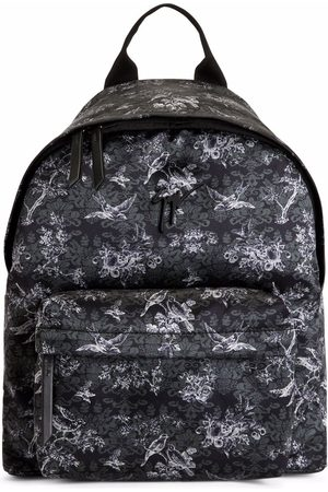 Giuseppe Zanotti Bud floral-print backpack and. floral-print fabric Metal Signature Zip fastening at the top
