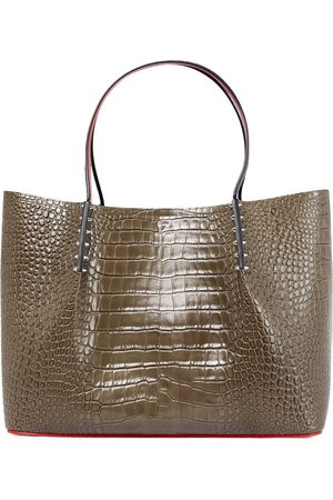 Christian Louboutin Cabarock Large croc-effect leather tote