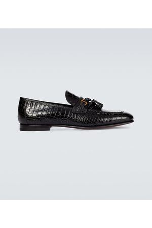 Tom Ford Sean croc-effect leather loafers