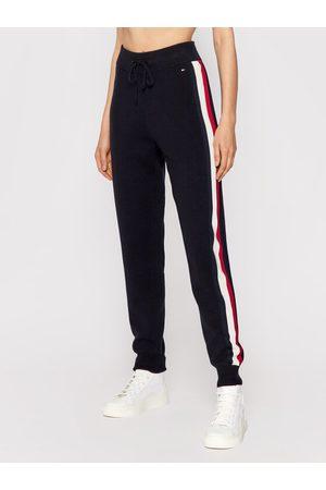 Tommy Hilfiger Spodnie dresowe Global Stripe WW0WW30487 Granatowy Relaxed Fit