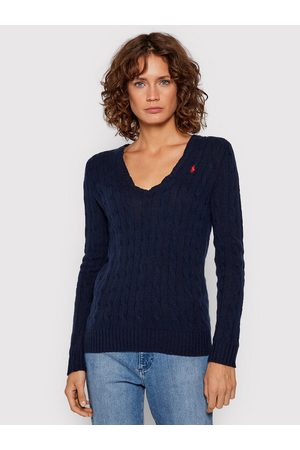 Polo Ralph Lauren Sweter 211508656009 Granatowy Regular Fit