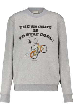 Saint Laurent X Snoopy cotton-blend jersey sweatshirt