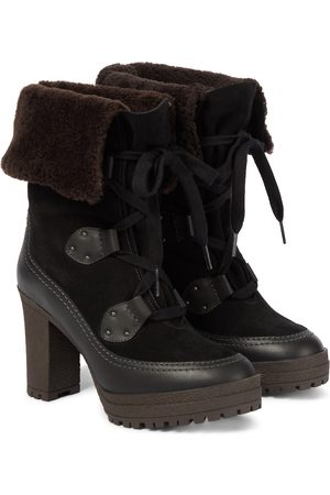 Chloé Kobieta Botki - Verena shearling-lined ankle boots