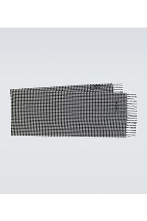 Tom Ford Szaliki i Chusty - Houndstooth wool and cashmere scarf