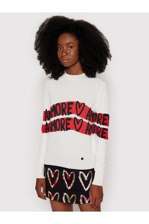 Desigual Sweter Amore Amore 21WWJFAN Regular Fit