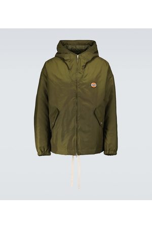 Gucci Lightweight canvas hooded jacket