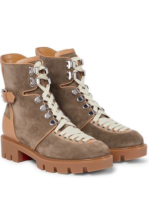Christian Louboutin Macademia suede and leather hiking boots