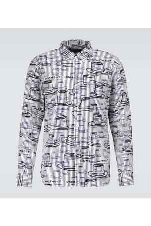 Comme des Garçons Printed striped cotton shirt