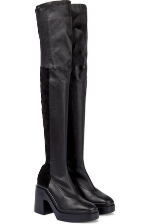 Robert Clergerie Kobieta Botki - Naelle leather over-the-knee boots